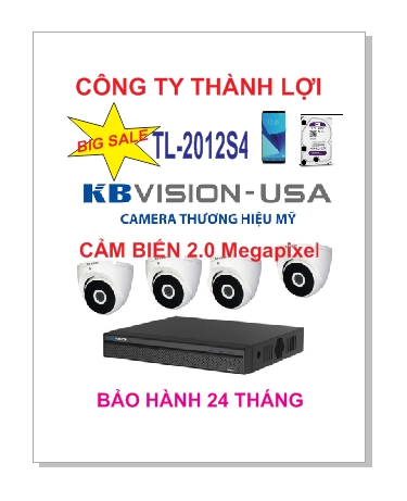 BỘ 4 Camera KBVISION TL-2012S4 2.0MP